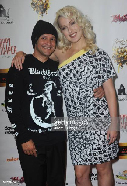 Director Neil D'Monte and actress Hollin Haley arrive for the Premiere Of 'Front Men' And 'Like Them' held at The Downtown Independent on June 15...