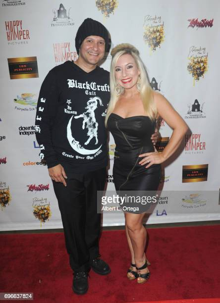 Director Neil D'Monte and dancer Taryn T Francis arrive for the Premiere Of 'Front Men' And 'Like Them' held at The Downtown Independent on June 15...