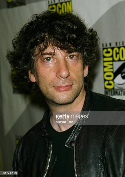 Director Neil Gaiman arrives to the Lionsgate press panel at Comic-Con at the San Diego Convention Center on July 26, 2007 in San Diego, California.