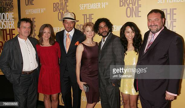 Director Neil Jordan Producer Susan Downey Actors Terrence Howard Jodie Foster Naveen Andrews Zoe Kravitz and Producer Joel Silver arrive at The...