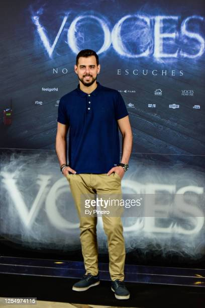 Director Ángel Gómez attends to 'Voces' Photocall at Verdi cinema on July 08 2020 in Madrid Spain