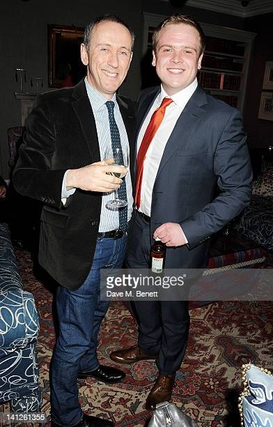 Director Nicholas Hytner and cast member Owain Arthur attend an after party celebrating the press night performance of 'One Man Two Guvnors' as it...