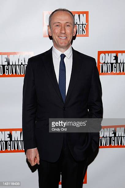 Director Nicholas Hytner attends the after party for the 'One Man Two Guvnors' Broadway opening night at The Liberty Theatre on April 18 2012 in New...