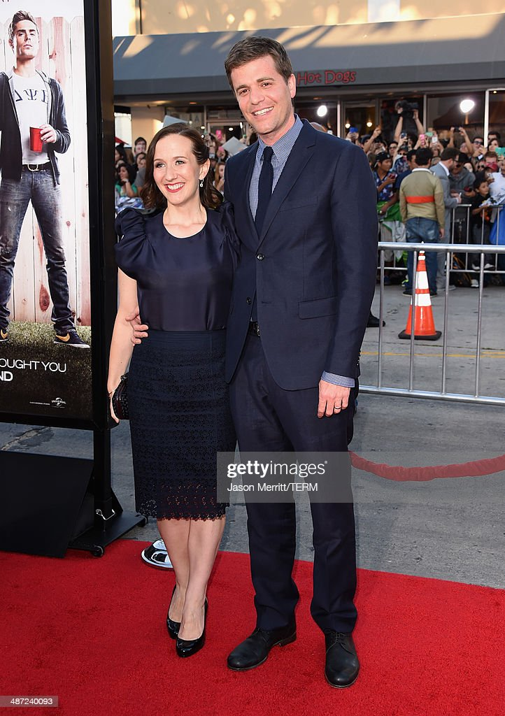 Director Nicholas Stoller (R) and Francesca Delbanco attend Universal Pictures' 'Neighbors' premiere at Regency Village Theatre on April 28, 2014 in Westwood, California.