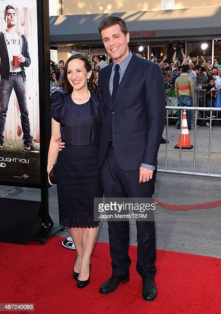 """Director Nicholas Stoller and Francesca Delbanco attend Universal Pictures' """"Neighbors"""" premiere at Regency Village Theatre on April 28, 2014 in..."""
