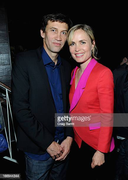 Director Nicholas Wrathall and actress Radha Mitchell attend the Gore Vidal The United States Of Amnesia premiere after party during the 2013 Tribeca...