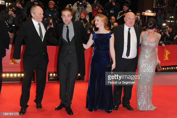 Director Nick Ormerod actors Robert Pattinson Holliday Grainger director Declan Donnellan and actress Christina Ricci attend the Bel Ami Premiere...