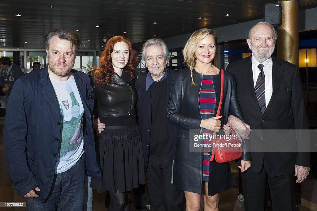 Director Nick Quinn, actress Audrey Fleurot, actor Pierre Arditi, actress Julie Ferrier and actor Jean-Pierre Marielle attend the premiere of 'La Fleur De L'Age' at UGC Cine Cite Bercy on April 29, 2013 in Paris, France.