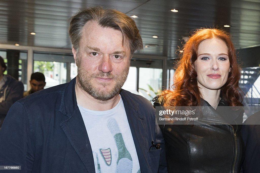 Director Nick Quinn and actress Audrey Fleurot attend the premiere of 'La Fleur De L'Age' at UGC Cine Cite Bercy on April 29, 2013 in Paris, France.