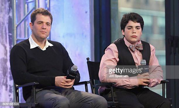 Director Nick Stoller and actor Cyrus Arnold attend the AOL Build Speaker Series Cyrus Arnold and Nick Stoller Zoolander 2 at AOL Studios In New York...
