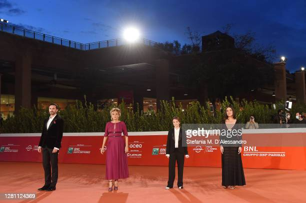 """Director Nicolangelo Gelormini, Valeria Golino, Cristina Magnotti and Pina Turco attend the red carpet of the movie """"Fortuna"""" during the 15th Rome..."""