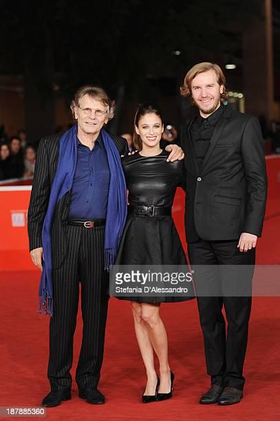 Director Nicolas Bary actors Melanie Bernier and Daniel Pennac attend 'Au Bonheur Des Ogres' Premiere during The 8th Rome Film Festival on November...