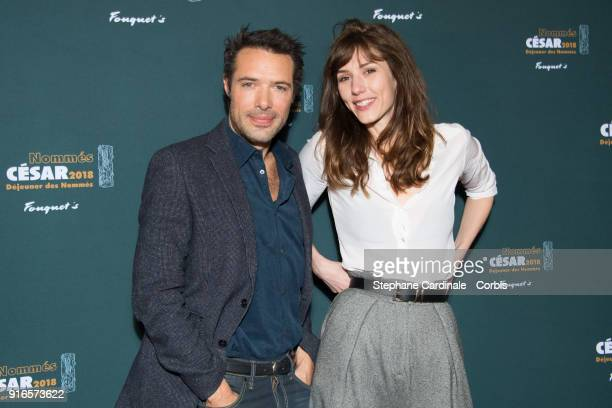 Director Nicolas Bedos and Actress Doria Tillier attend the Cesar 2018 Nominee Luncheon at Le Fouquet's on February 10 2018 in Paris France