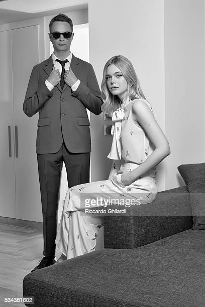 Director Nicolas Widding Refn and Elle Fannings are photographed for Self Assignment on May 22 2016 in Cannes France