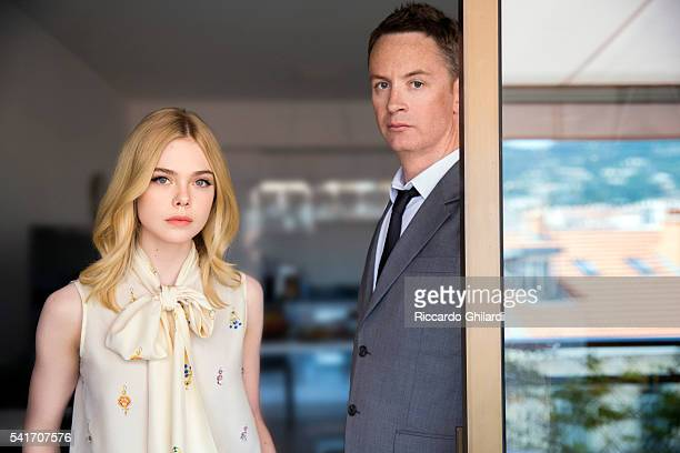 Director Nicolas Widding Refn and Elle Fannings are photographed for Self Assignment on May 22, 2016 in Cannes, France.