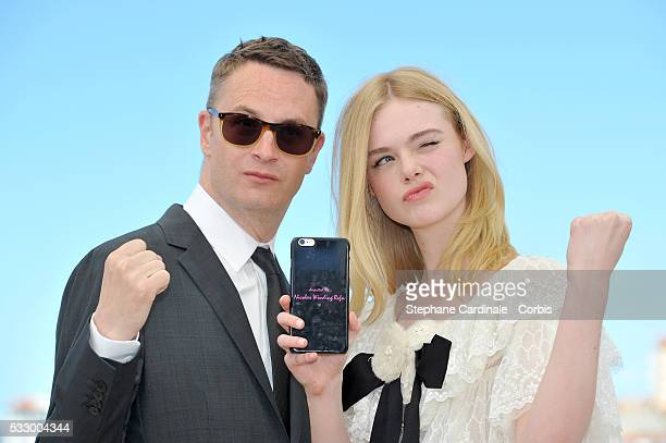 Director Nicolas Winding Refn and actress Elle Fanning attend 'The Neon Demon' Photocall during the 69th annual Cannes Film Festival at the Palais...