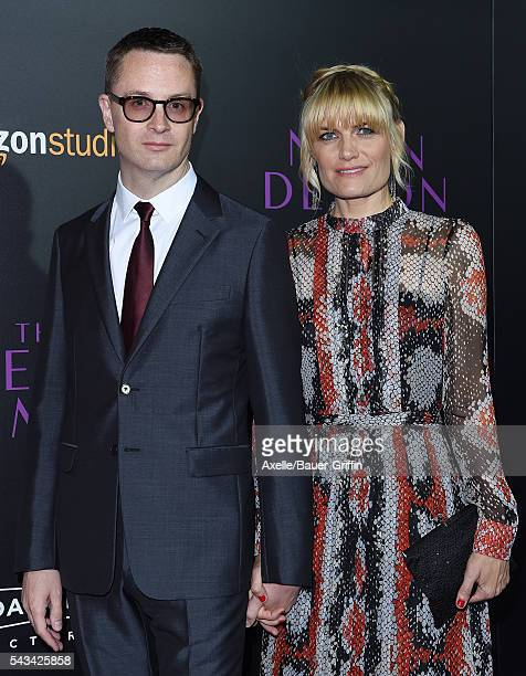 Director Nicolas Winding Refn and wife Liv Corfixen arrive at the premiere of Amazon's 'The Neon Demon' at ArcLight Cinemas Cinerama Dome on June 14,...