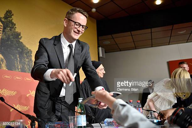 """Director Nicolas Winding Refn attends """"The Neon Demon"""" Press Conference during the 69th annual Cannes Film Festival at the Palais des Festivals on..."""
