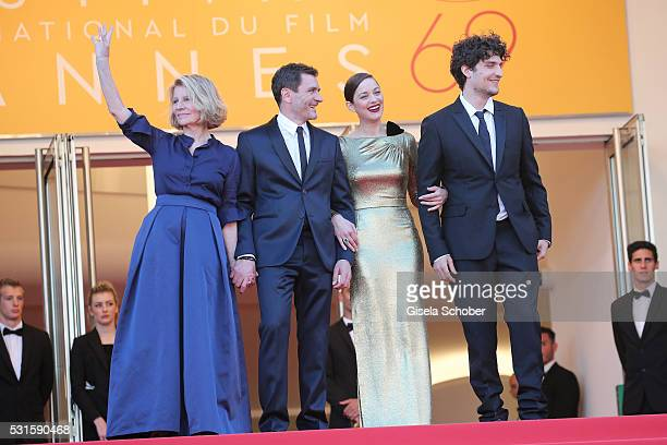 """Director Nicole Garcia, actor Alex Brendemuehl, actress Marion Cotillard and actor Louis Garrel attend the """"From The Land Of The Moon """" premiere..."""