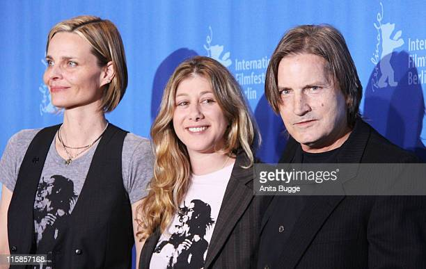 Director Nicole Haeusser Producer Vedra Mehagian and actor/producer Joe Dallesandro attend the photocall for Little Joe as part of the 59th Berlin...
