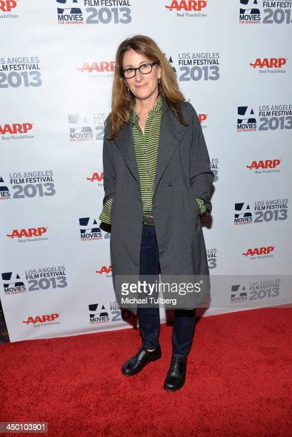 Director Nicole Holofcener attends a screening of the film Enough Said at AARP's Movies For Grownups Film Festival 2013 at Regal Cinemas LA Live on...