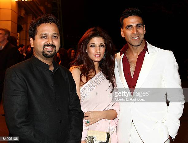 Director Nikhil Advani actress Twinkle Khanna and actor Akshay Kumar arrive at a special screening of Warner Bros's Chandni Chowk to China on the...