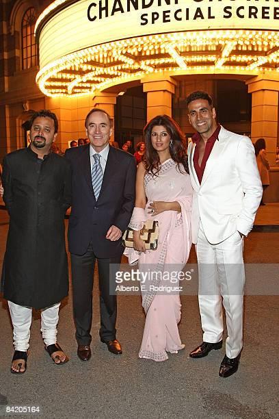 Director Nikhil Advani Warner Bros International's Richard Fox actress Twinkle Khanna and actor Akshay Kumar arrive at a special screening of Warner...