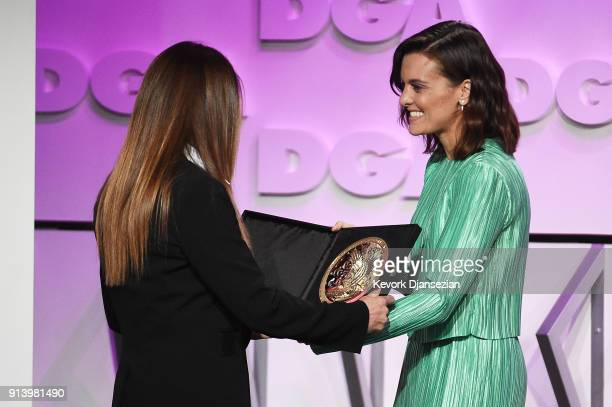 Director Niki Caro accepts the award for Outstanding Directorial Achievement in Children's Programs for the 'Anne with an E' episode 'Your Will Shall...