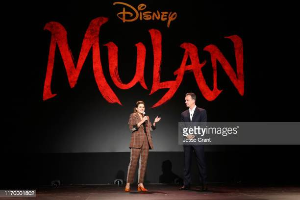 Director Niki Caro of 'Mulan' and President of Walt Disney Studios Motion Picture Production Sean Bailey took part today in the Walt Disney Studios...
