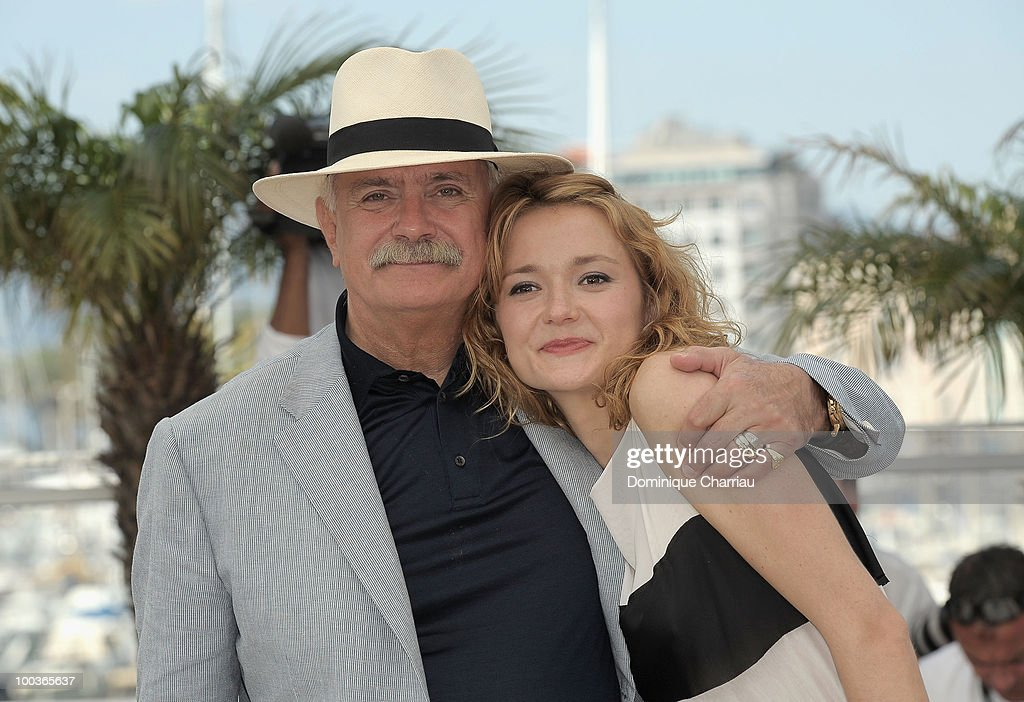 Director Nikita Mikhalkov and actress Nadezhda Mihalkova attend 'The Exodus - Burnt By The Sun 2' Photo Call held at the Palais des Festivals during the 63rd Annual International Cannes Film Festival on May 22, 2010 in Cannes, France.