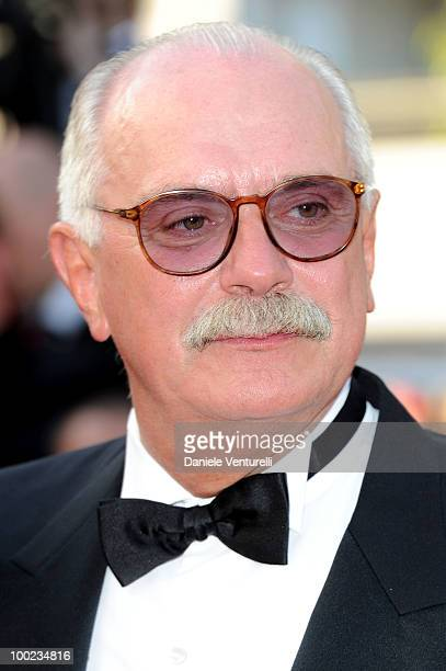 Director Nikita Mikhalkov attends the The Exodus Burnt By The Sun 2 Premiere held at the Palais des Festivals during the 63rd Annual International...