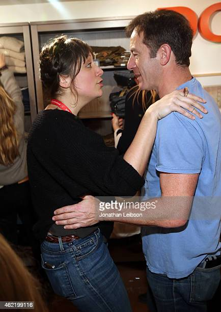 Director Nikole Beckwith and actor Jason Isaacs attend The Variety Studio At Sundance Presented By Dockers on January 25 2015 in Park City Utah