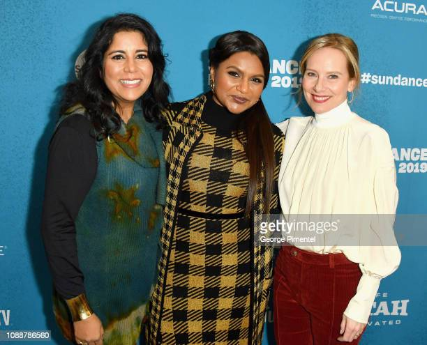 Director Nisha Ganatra Writer Mindy Kaling and Amy Ryan attend the 'Late Night' Premiere during the 2019 Sundance Film Festival at Eccles Center...