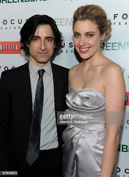 Director Noah Baumbach and actress Greta Gerwig arrive on the red carpet at the 'Greenberg' Los Angeles Premiere at ArcLight Cinemas on March 18 2010...