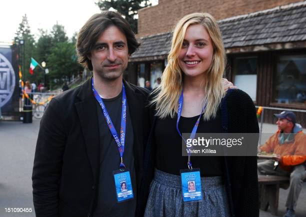 Director Noah Baumbach and actress Greta Gerwig attend the Opening Night Feed at the 2012 Telluride Film Festival Day 1 on August 31 2012 in...