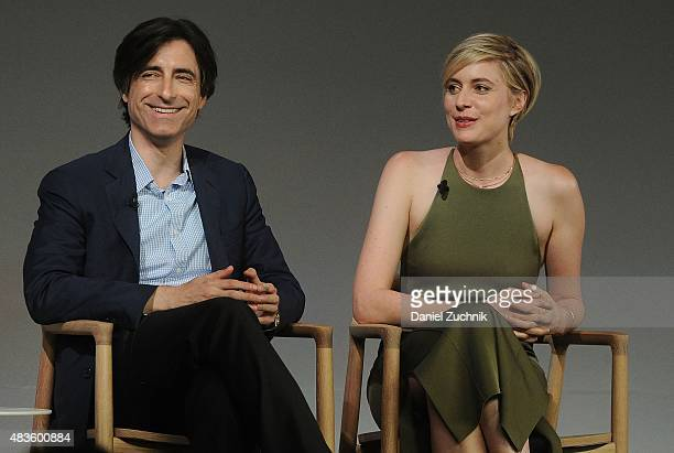 Director Noah Baumbach and actress Greta Gerwig discuss their new film 'Mistress America' at Apple Store Soho on August 10 2015 in New York City