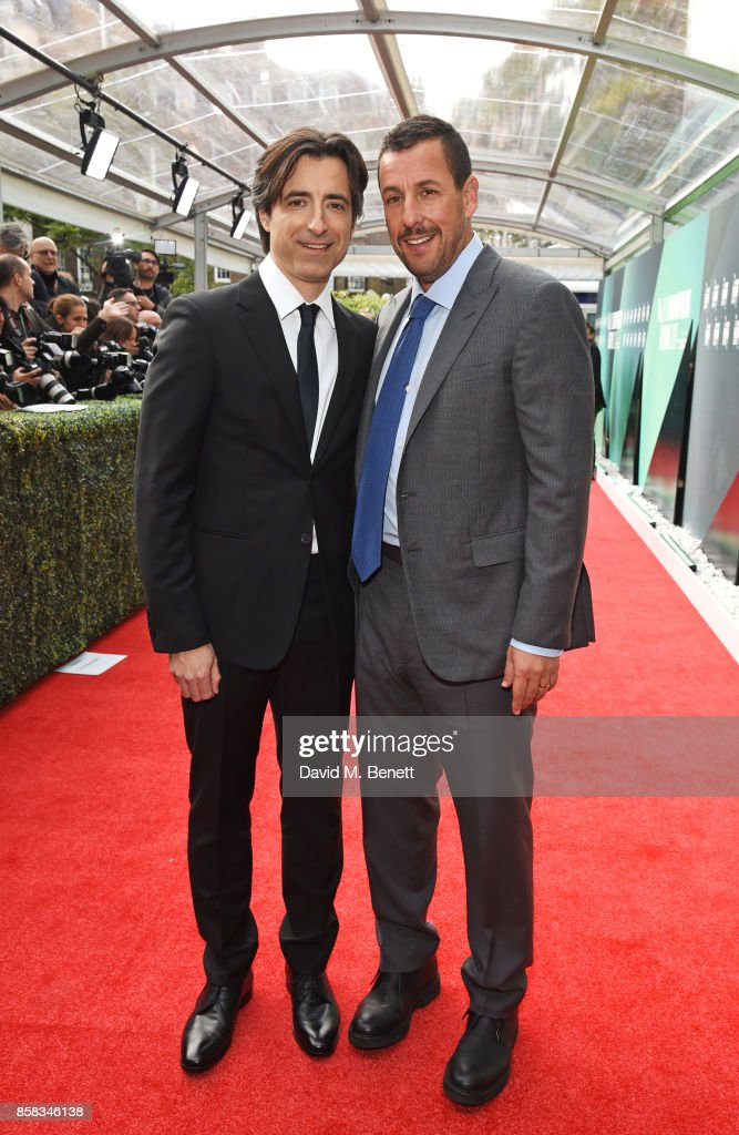 Director Noah Baumbach (L) and Adam Sandler attend the Laugh Gala & UK Premiere of 'The Meyerowitz Stories' during the 61st BFI London Film Festival at Embankment Gardens Cinema on October 6, 2017 in London, England.