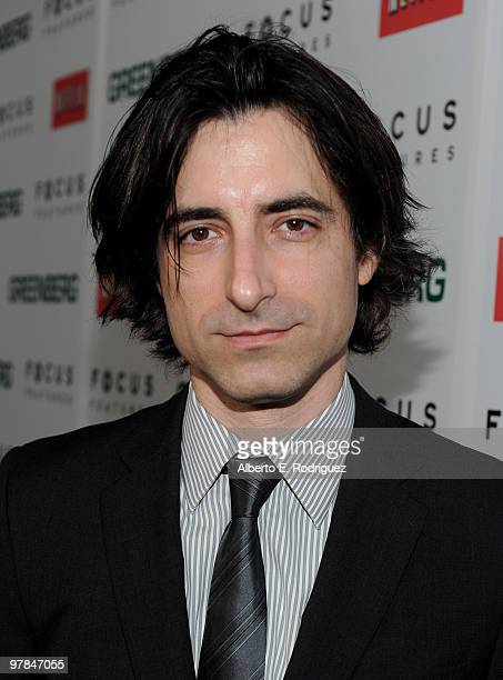 Director Noah Baumbach arrives on the red carpet at the 'Greenberg' Los Angeles Premiere at ArcLight Cinemas on March 18 2010 in Hollywood California