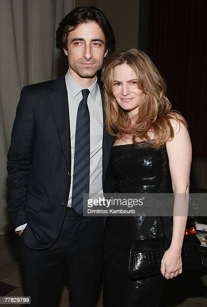 Director Noah Baumbach Jennifer Jason Leigh and Linda Wells attend the after party of Margot at the Wedding hosted by the Cinema Society at the SoHo...