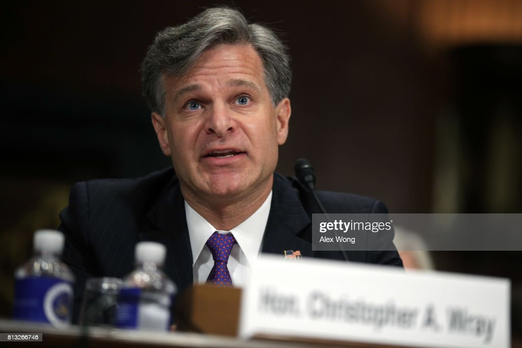 Senate Holds Confirmation Hearing For FBI Director Nominee Christopher Wray : News Photo