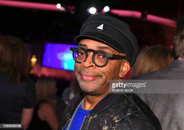Director nominee for BlackKklansman Spike Lee poses inside the 91st Oscars Nominees Luncheon at the Beverly Hilton hotel on February 4 2019 in...