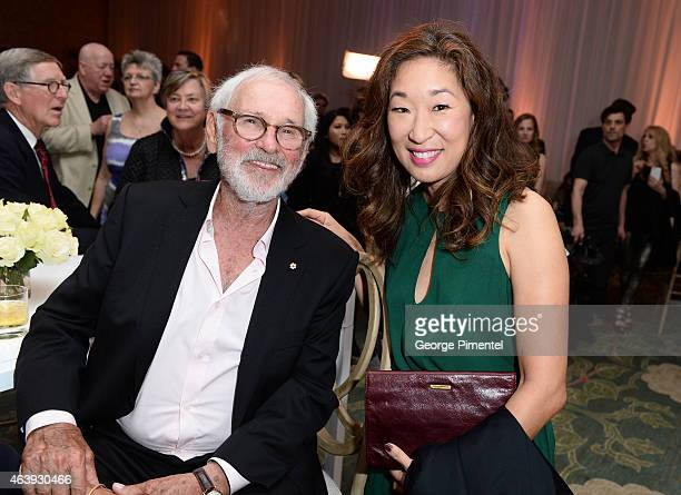 Director Norman Jewison and Actress Sandra Oh attend the Telefilm Canada Oscar Week Gala held at The Four Seasons Hotel on February 19, 2015 in...