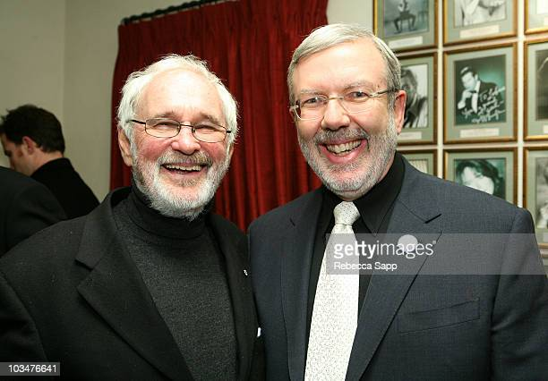 Director Norman Jewison and Film Critic Leonard Maltin arrives at the 2008 Santa Barbara Film Festival - Tribute to Julie Christie held at the Lobero...
