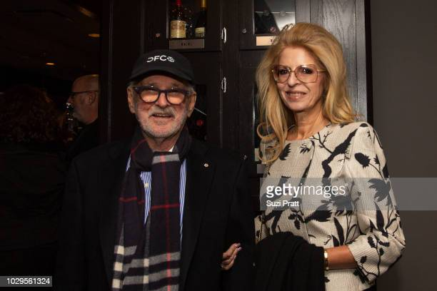Director Norman Jewison and Lynne Jewison pose for a photo at Sony Pictures Classics TIFF Celebration Dinner at Morton's on September 8, 2018 in...