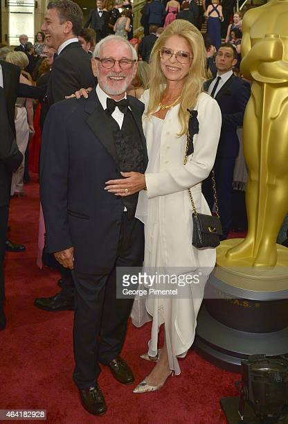 Director Norman Jewison and Lynne St. David attend the 87th Annual Academy Awards at Hollywood & Highland Center on February 22, 2015 in Hollywood,...