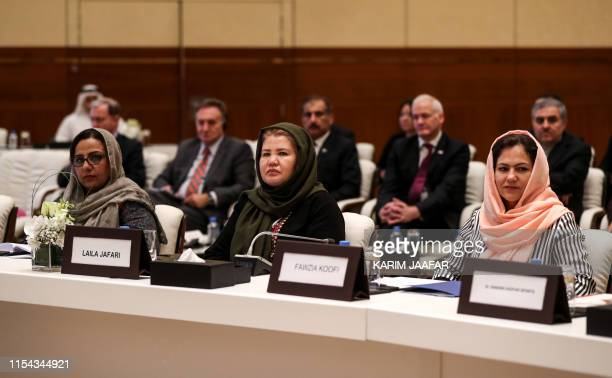 Director of Afghan Women Network Mary Akrami Afghan civil society and women's rights activist Laila Jafari and Member of the Wolesi Jirga Fawzia...