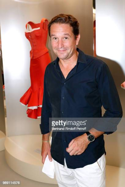 Director of Alaia Eric Vallat attends L'Alchimie secrete d'une collection The Secret Alchemy of a Collection Exhibition Preview at Galerie Azzedine...