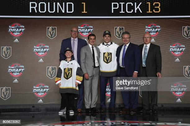 Director of amateur scouting Scott Luce draft runner general manager George McPhee 13th overall pick Nick Suzuki assistant general manager Kelly...