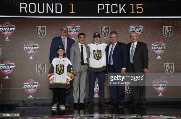Director of amateur scouting Scott Luce draft runner general manager George McPhee 15th overall pick Erik Brannstrom assistant general manager Kelly...