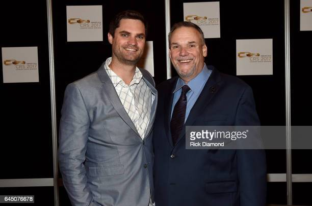Director of Amazon Music Ryan Redington and Executive Director of the Country Radio Broadcasters and Country Radio Seminar Bill Mayne attend CRS 2017...